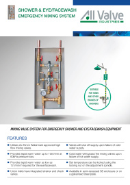 Emergency Shower Mixing Valve